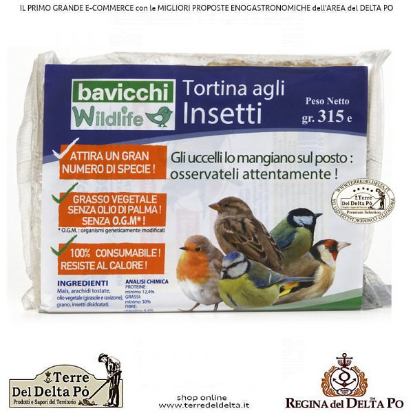 tortina agli Insetti - 315g - uccelli selvatici