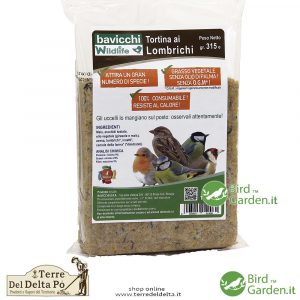 tortina ai lombrichi BirdGarden.it