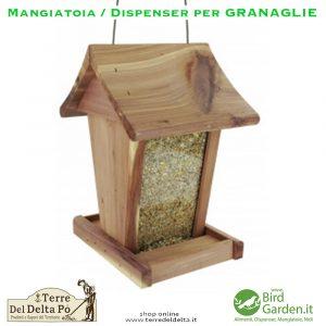 mangiatoia / dispenser per granaglie - birdgarden.it
