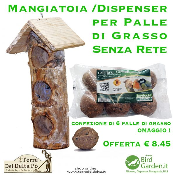 tronco tre palle di grasso - birdgarden.it