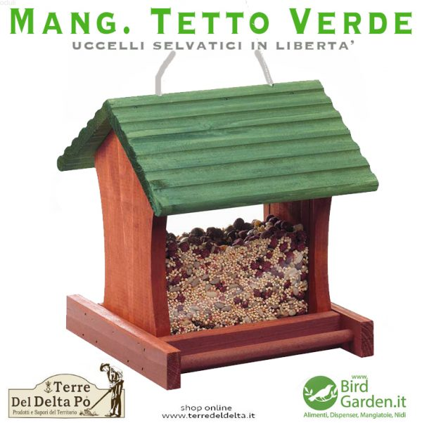 mangiatoia tetto verde - www.birdgarden.it