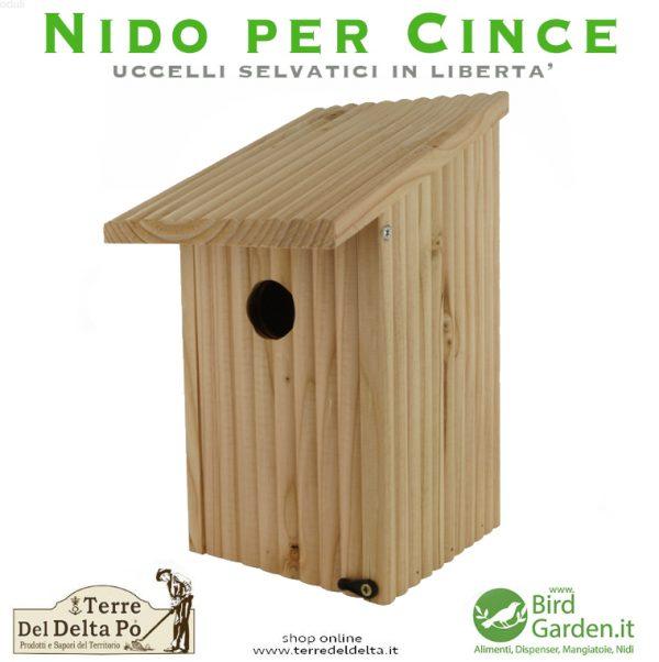 nido per cince legno naturale