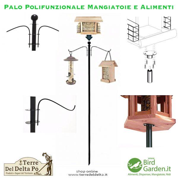 palo polifunzionale semplice - birdgarden.it